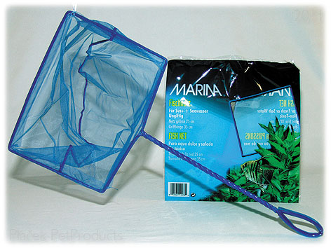 Síťka MARINA akvarijní modrá jemná 12,5 cm (1ks)