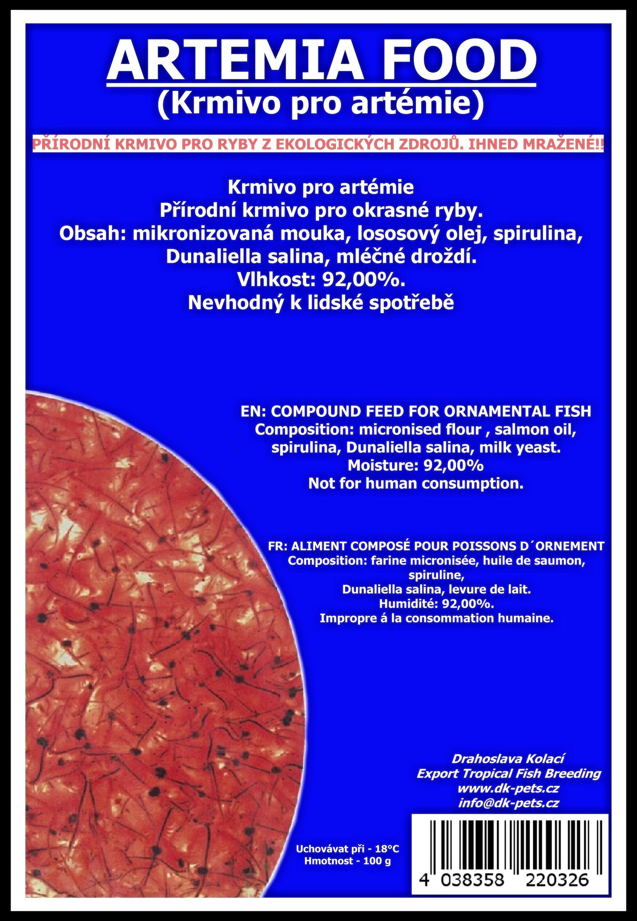 Krmivo pro artemie - blistr - 100g