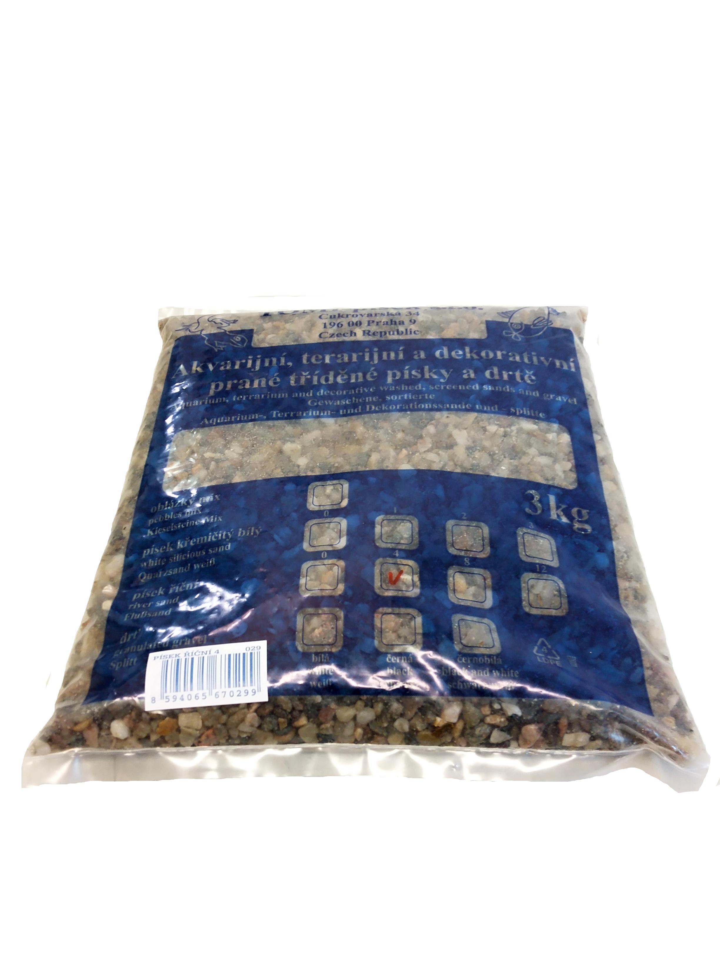 Písek říční To-pi  č. 4 - 3 kg