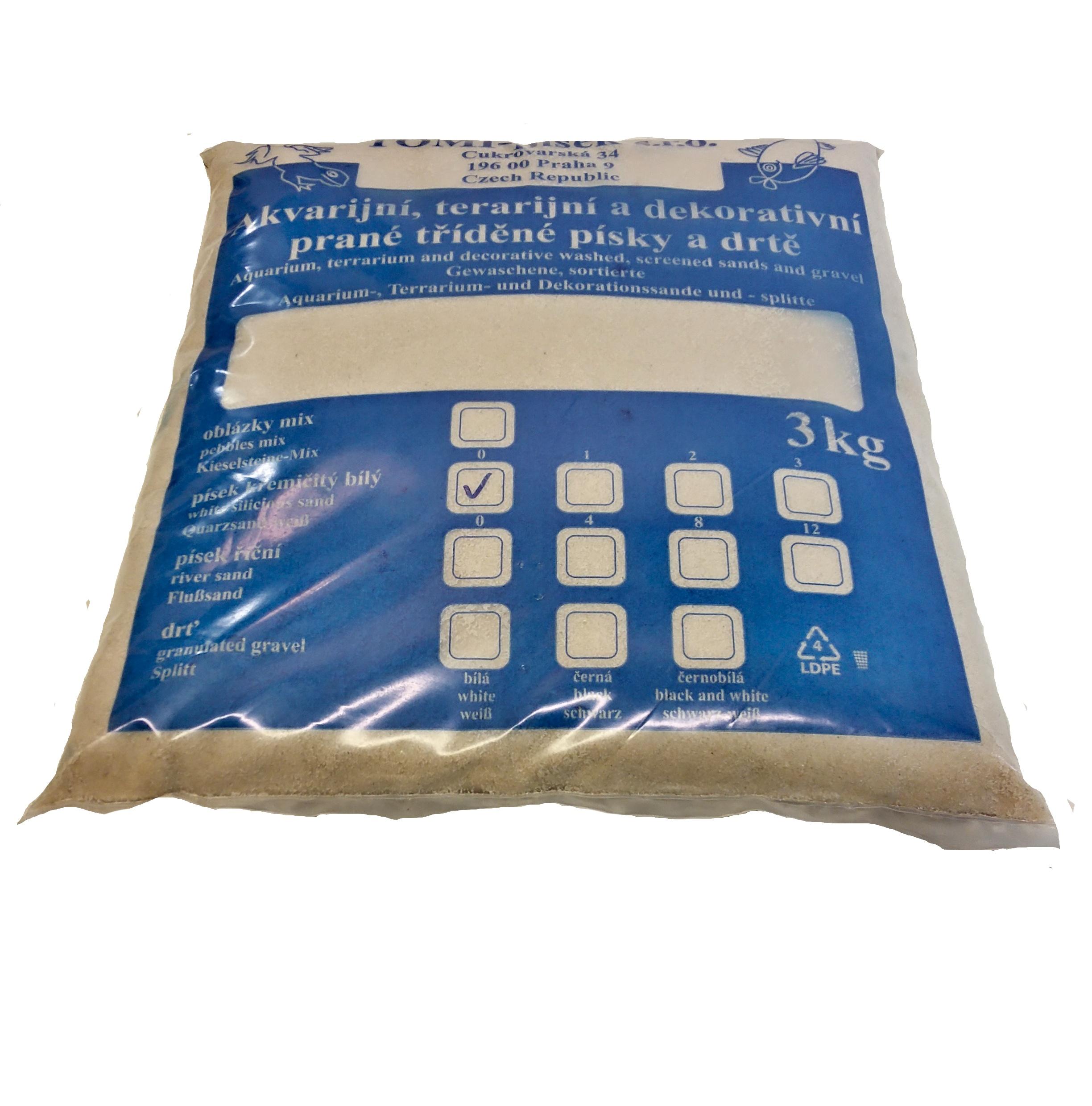 Písek křemičitý bílý To-pi č. 0 - 3 kg