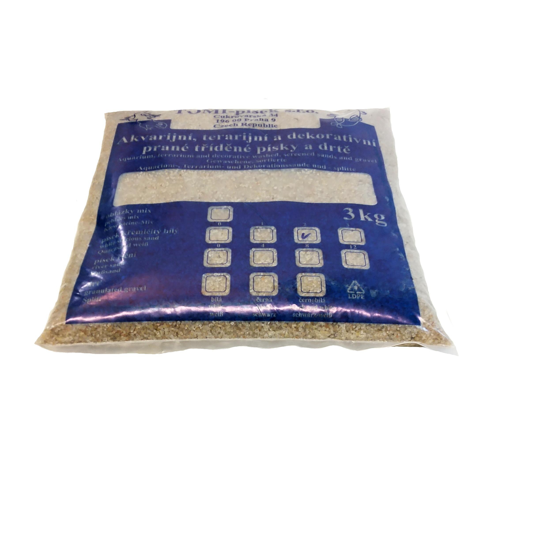 Písek křemičitý bílý To-pi č. 2 - 3 kg