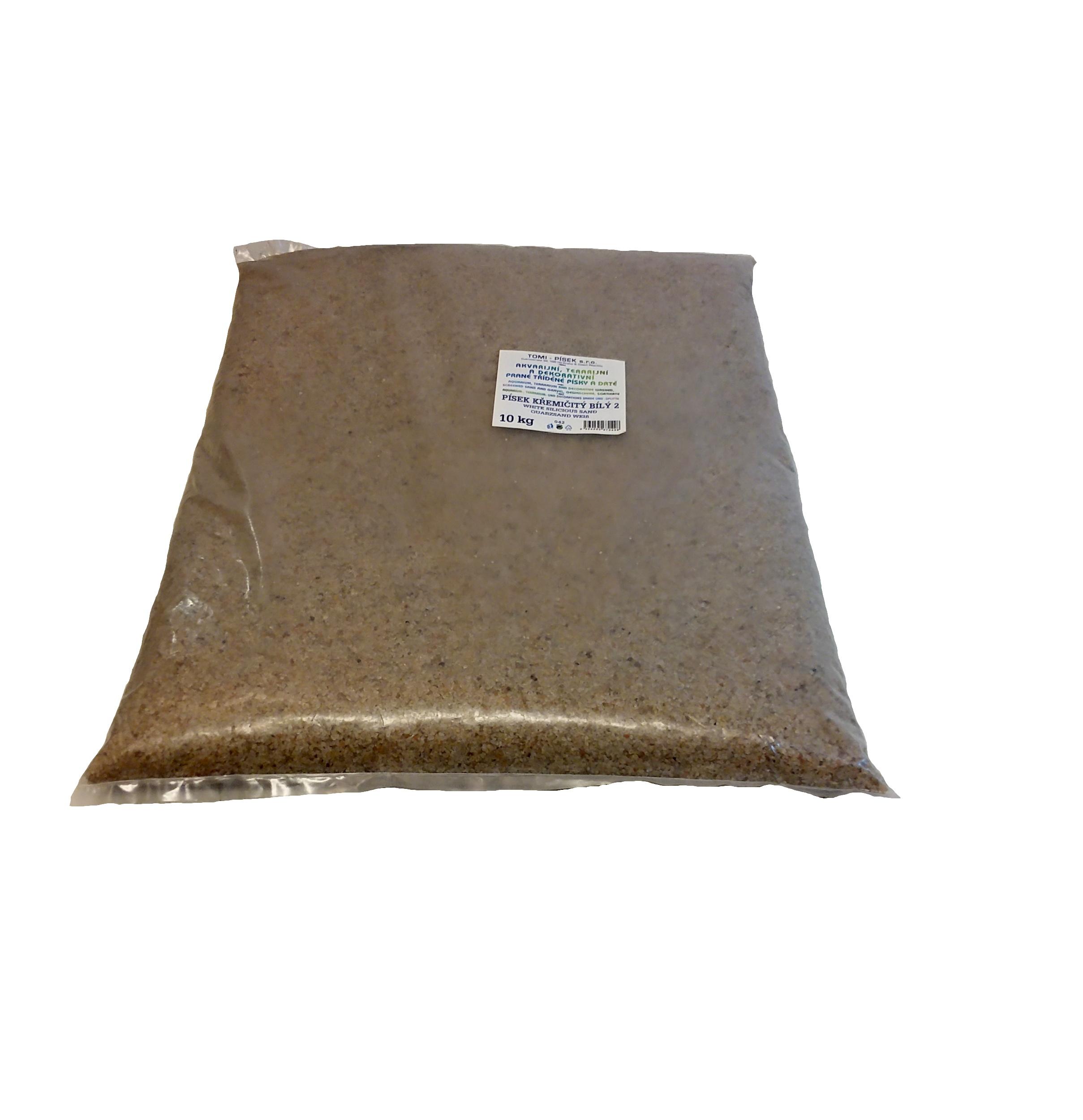 Písek křemičitý bílý To-pi č. 2 - 10 kg
