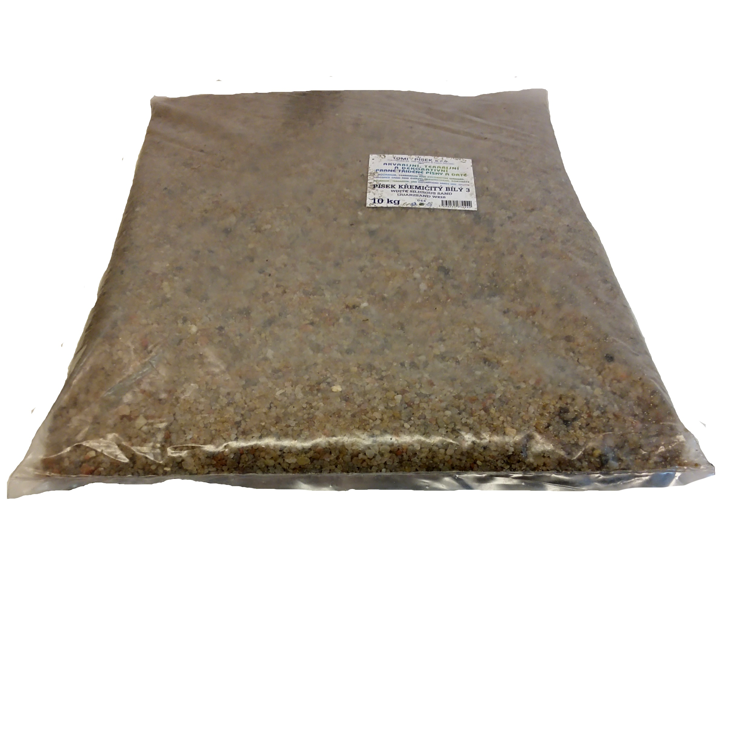 Písek křemičitý bílý To-pi č. 3 - 10 kg