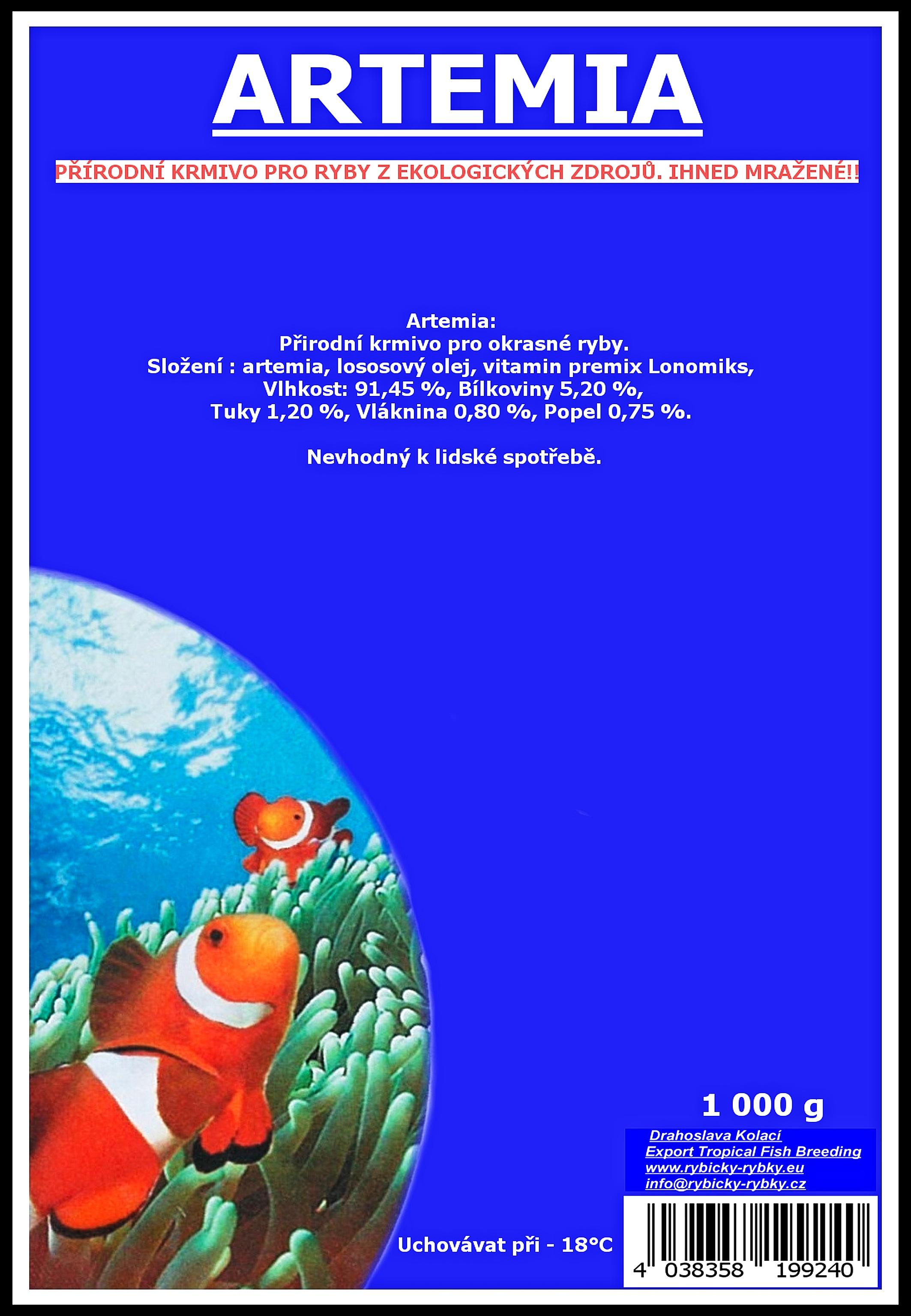 Artemia - 1 000 g