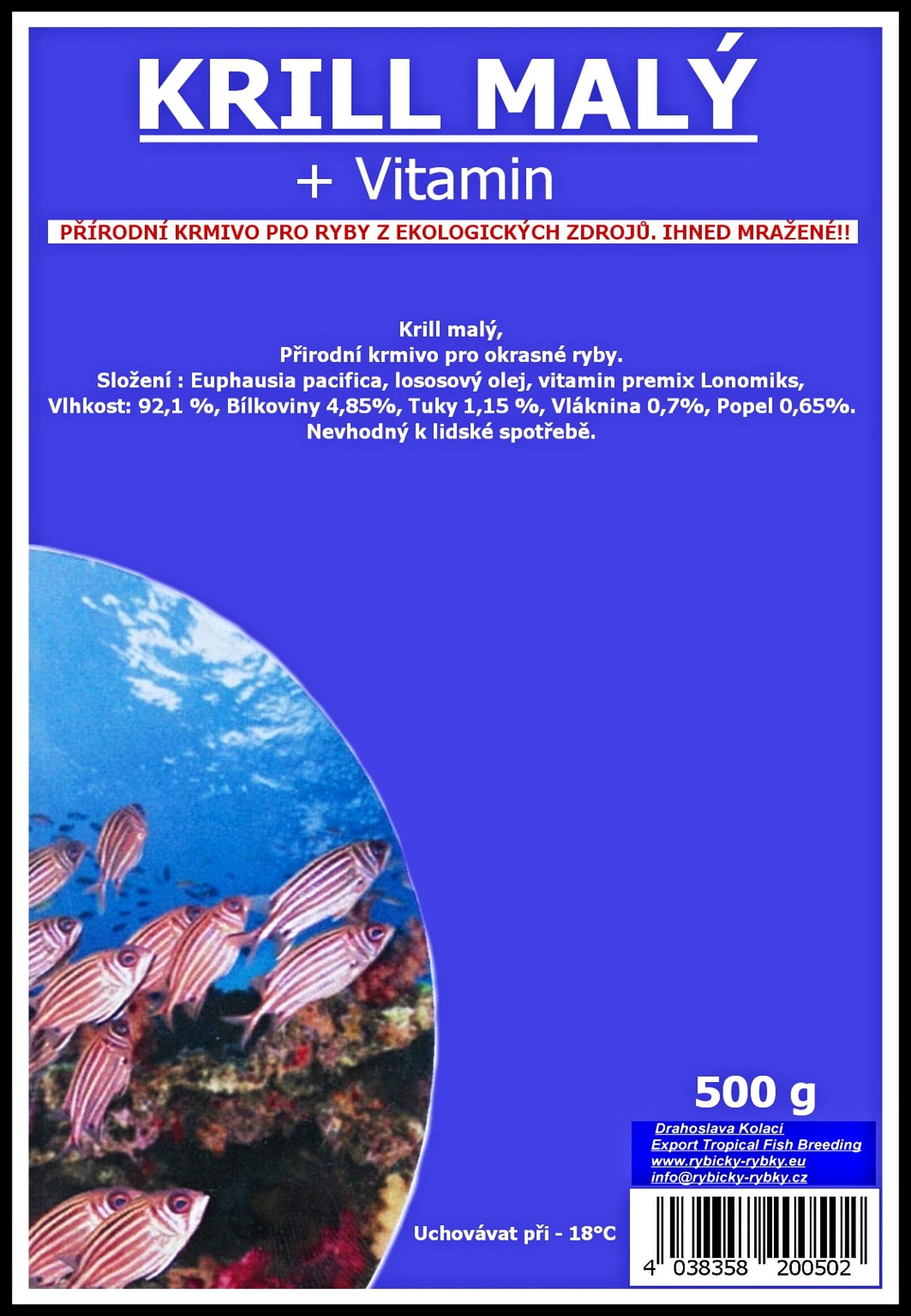 Krill malý - 500 g