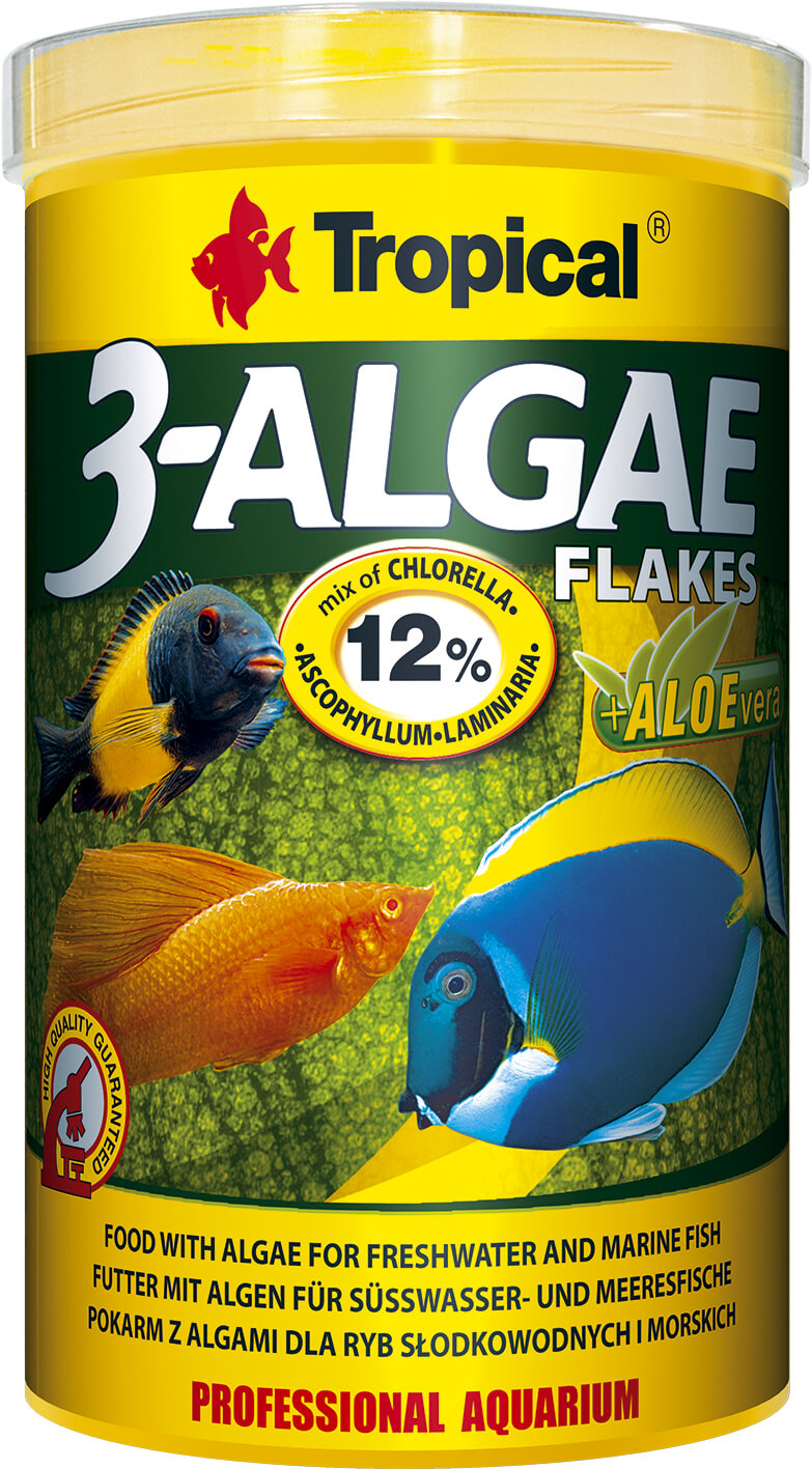Tropical 3-Algae Flakes - 250ml/50g