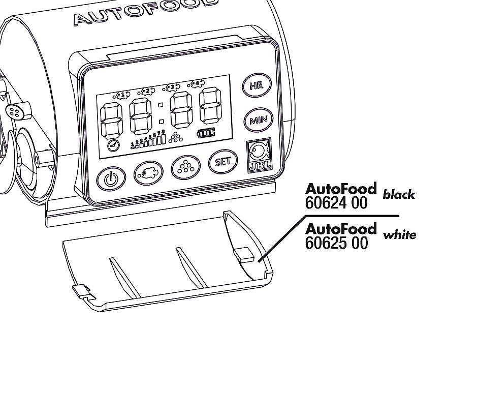 JBL AutoFood WHITE víko baterie