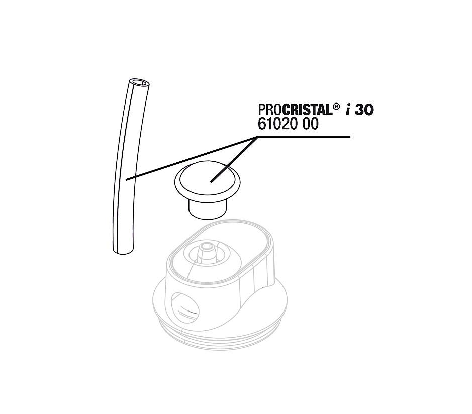 JBL CristalProfi i30 hadice 4/6+poklop na přívodní vzduchovou hadičku