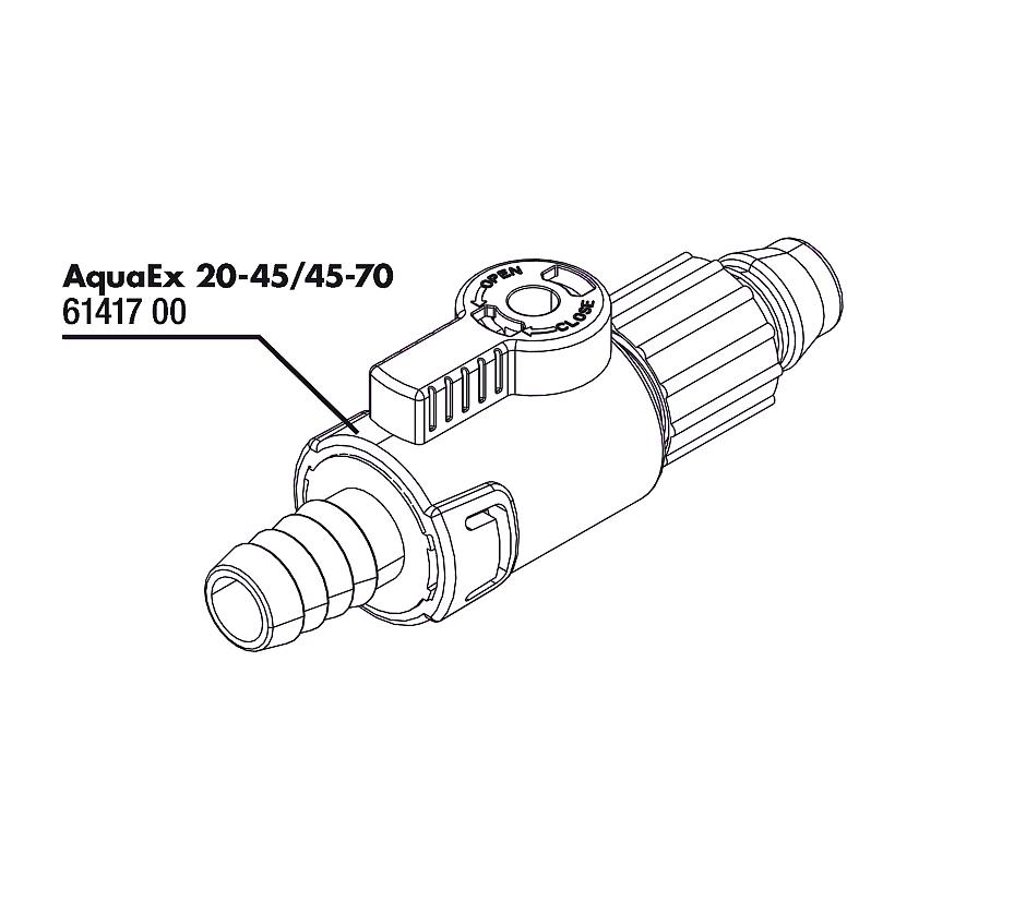 JBL AquaEx 20-45/45-70 zavírací kohout