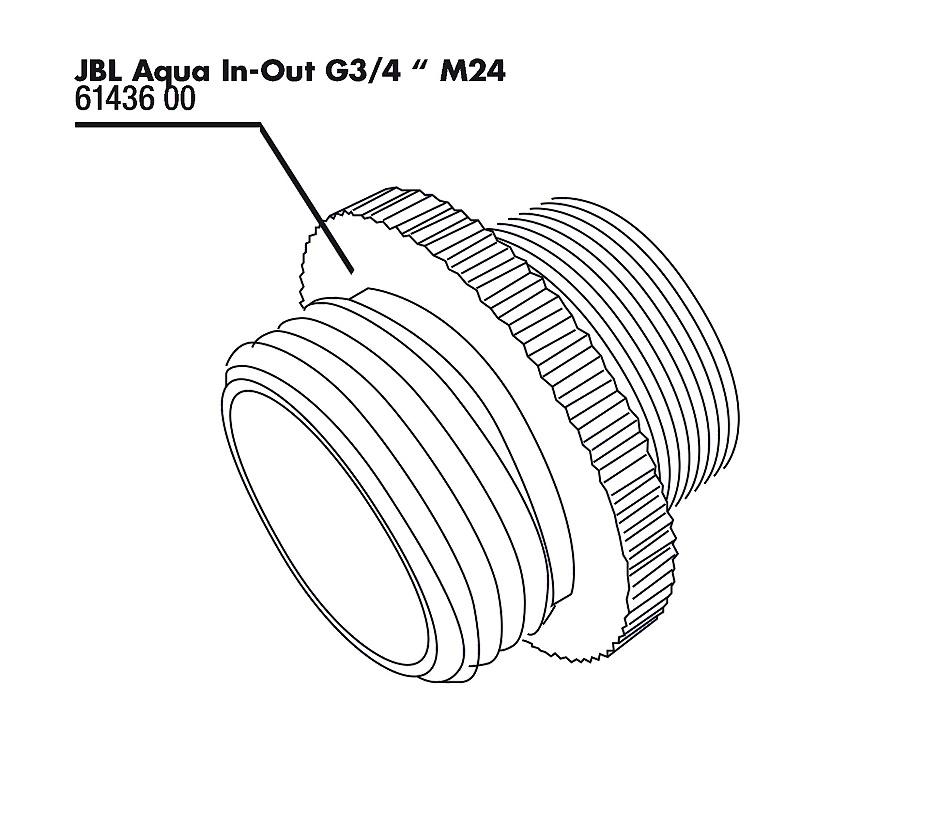 JBL Aqua In-Out kovový adaptér G3/4 M24