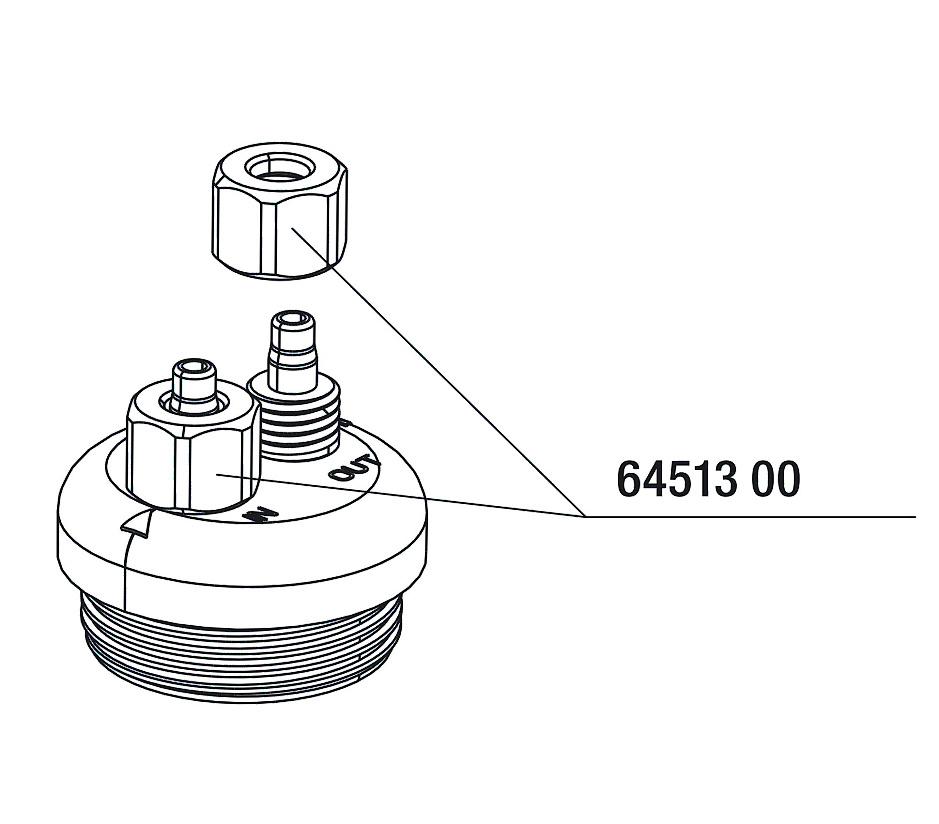 JBL převlečná matice vzduch/CO2, 3 x