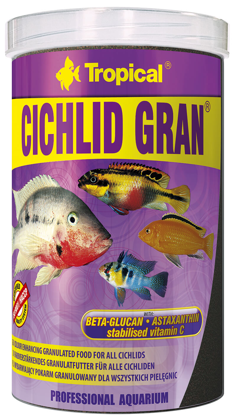 Tropical Cichlid Gran - 1000ml/550g