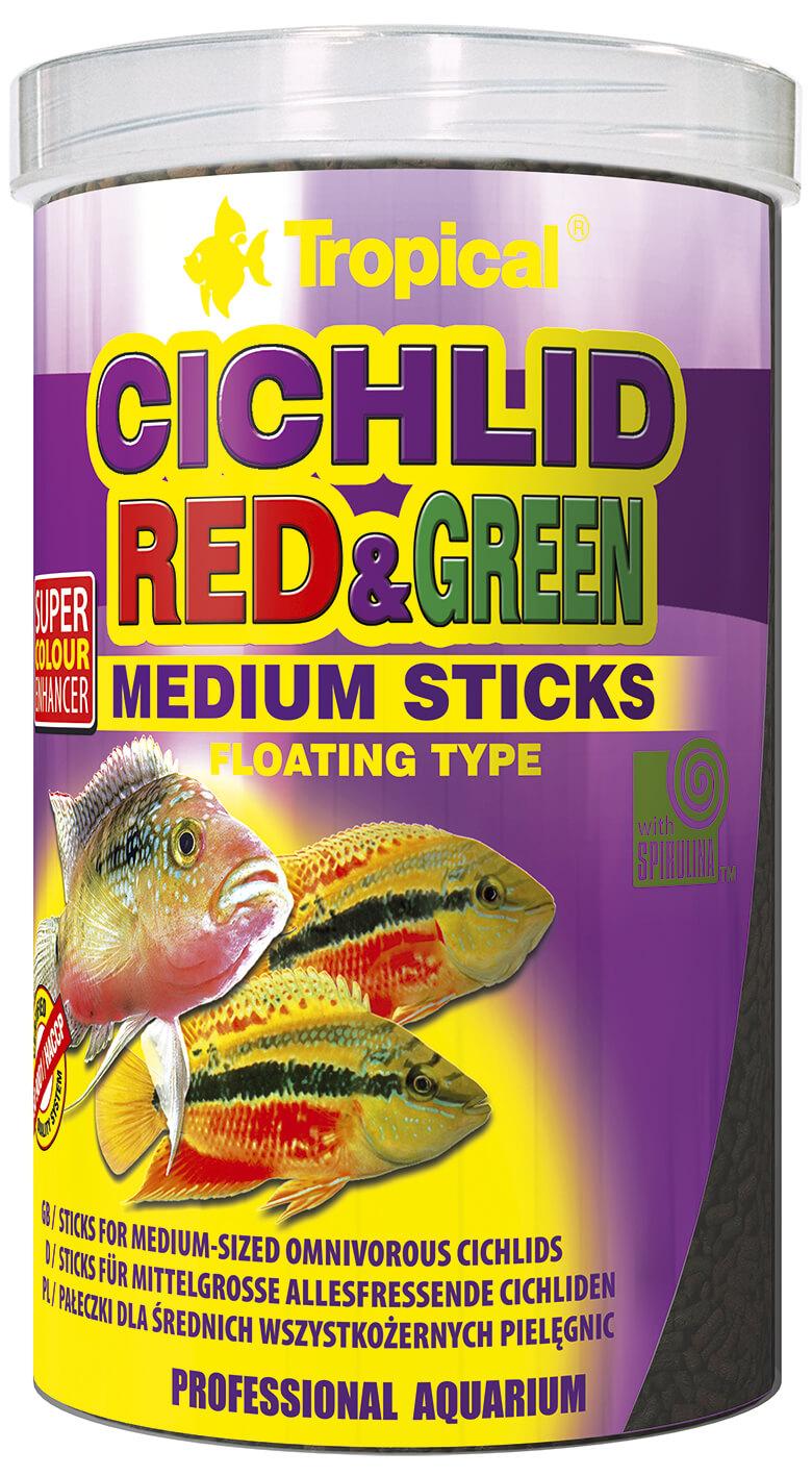 Tropical Cichlid Red&Green Medium Sticks - 1000ml/360g