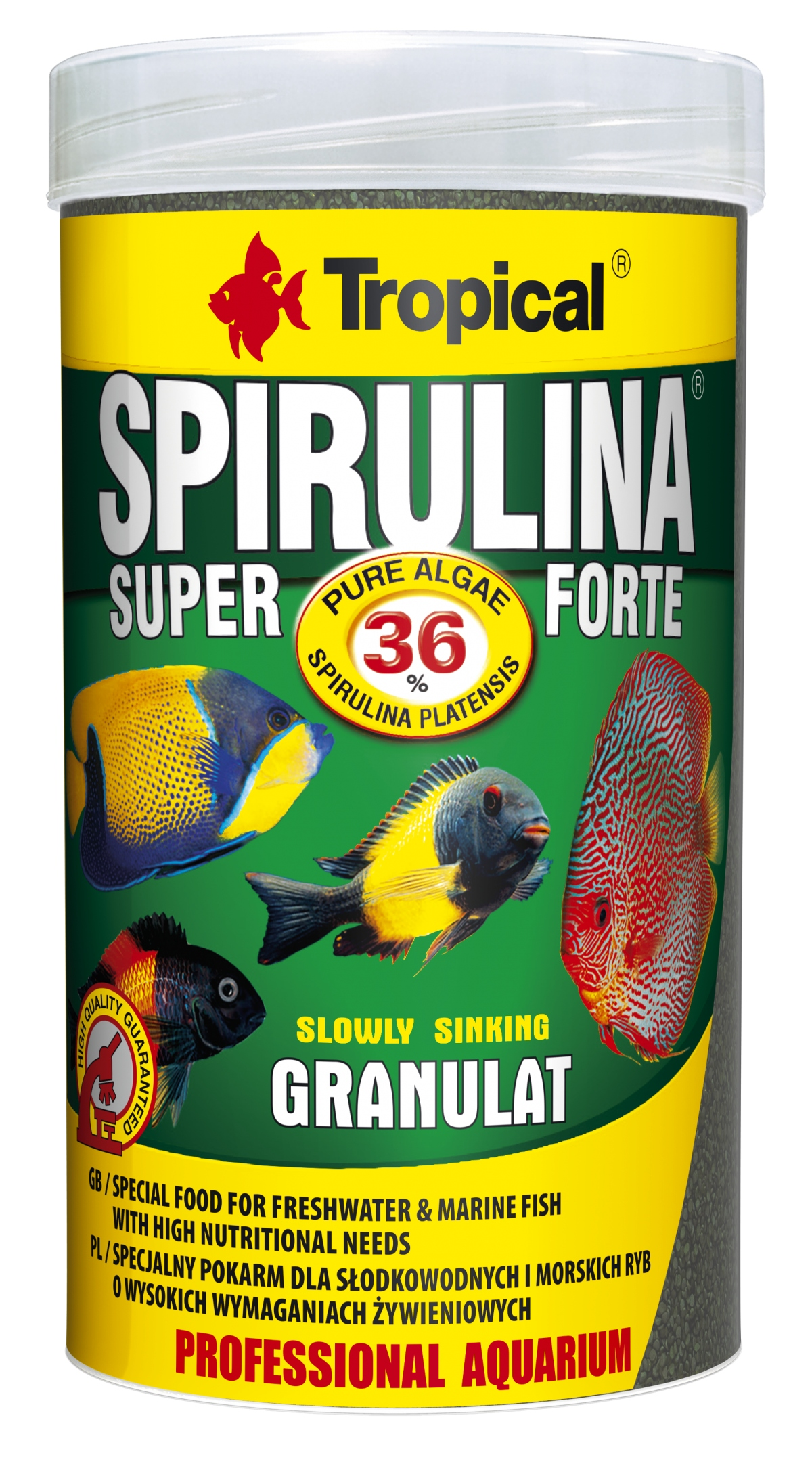 Tropical Super Spirulina Forte Granulát 36% - 250ml /150g