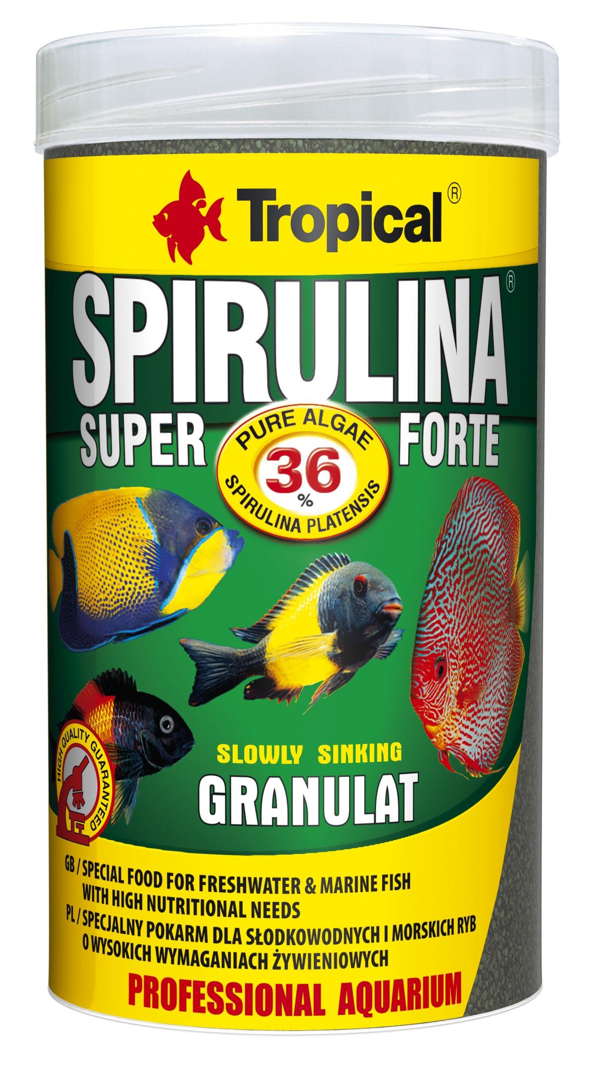 Tropical Super Spirulina Forte Granulát 36% - 1000ml /600g