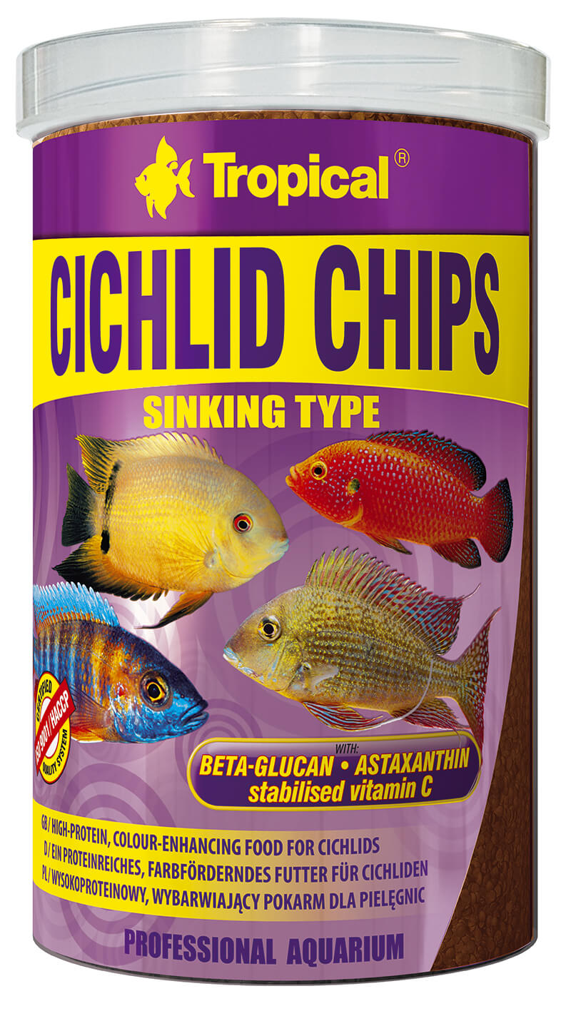 Tropical Cichlid Chips - 1000ml/520g