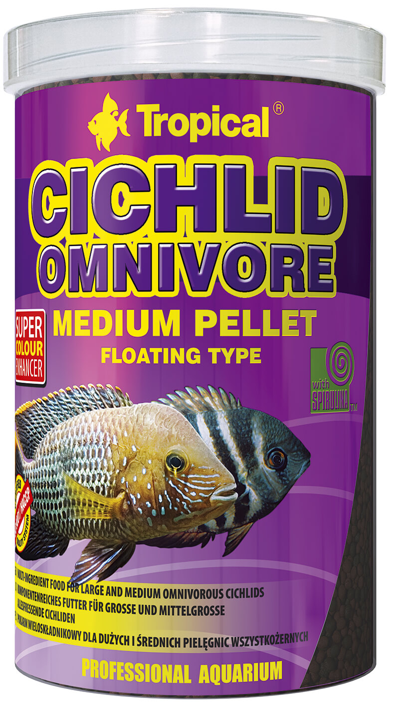 Tropical Cichlid Omnivore Medium Pellet - 1000ml/360g