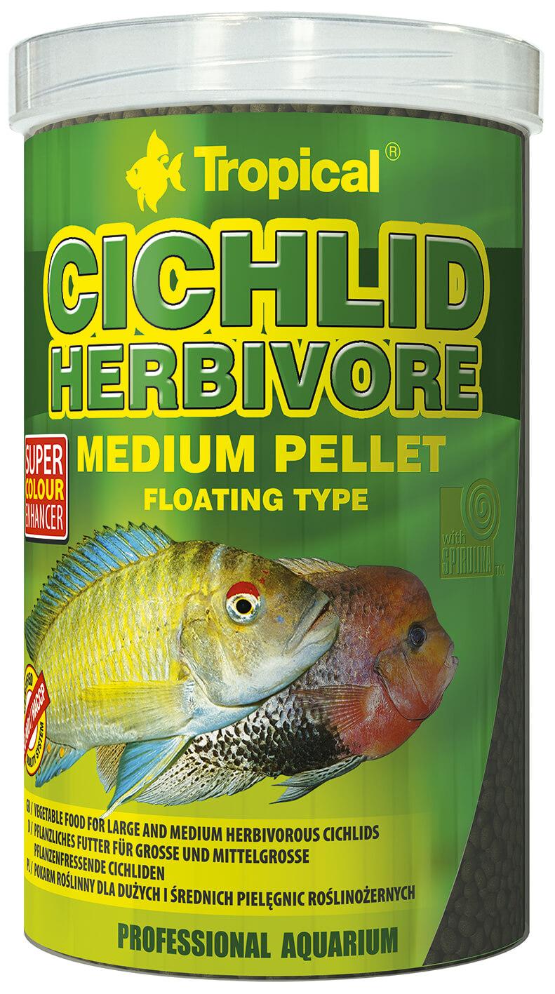 Tropical Cichlid Herbivore Medium Pellet - 1000ml/360g