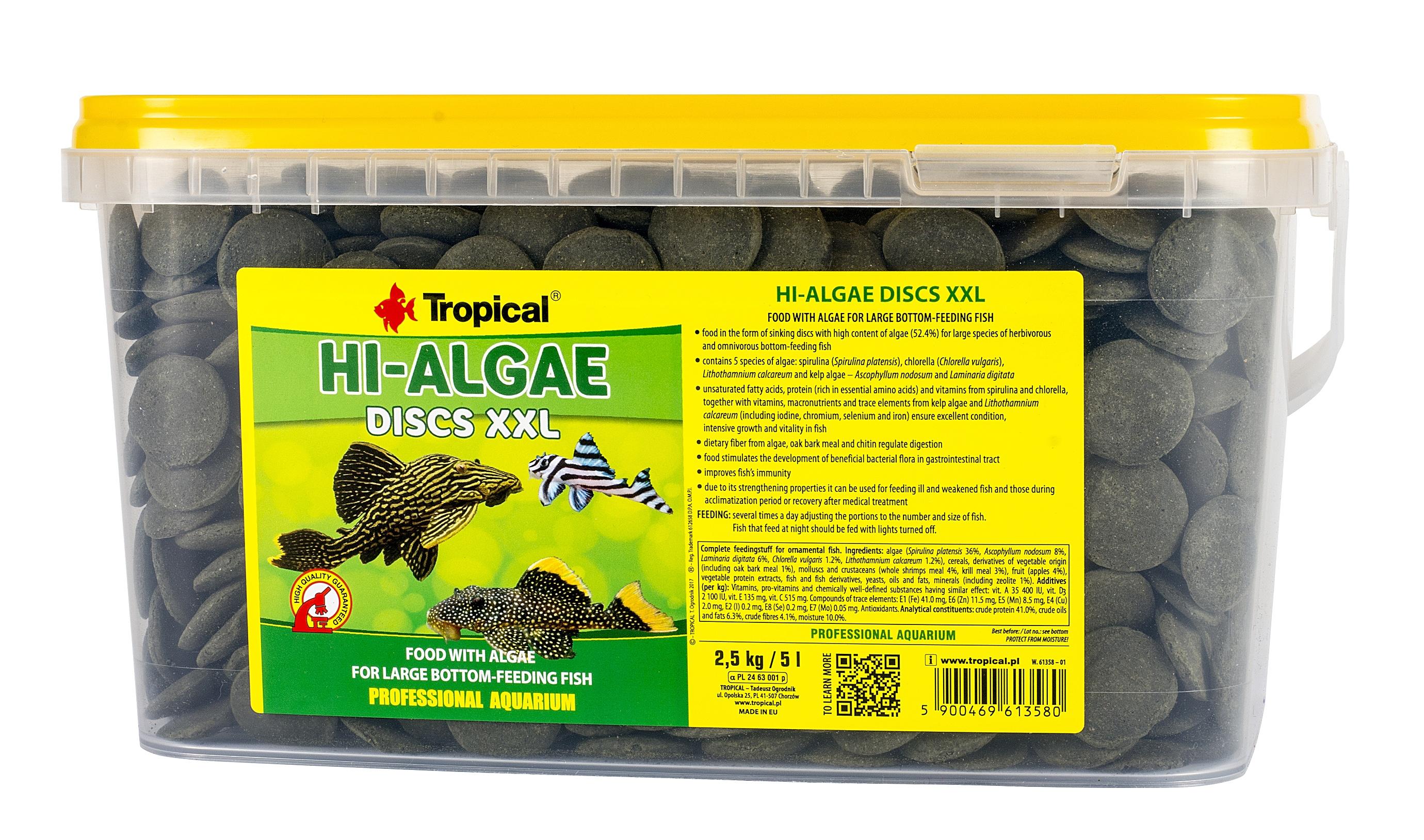 Tropical Hi-Algae Discs XXL - 5 L/2,5 Kg