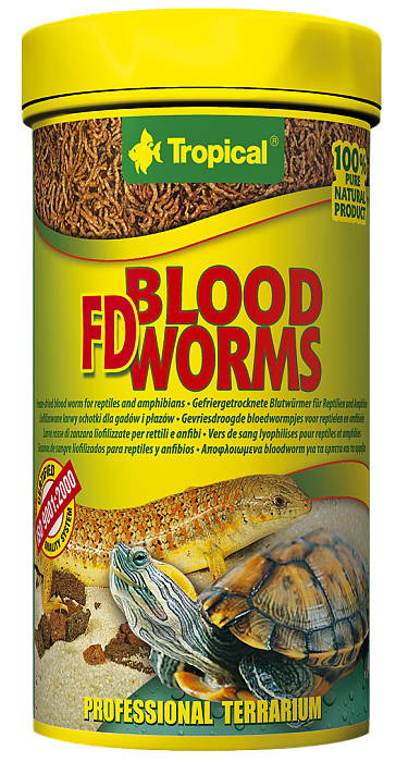 Tropical FD Blood Worms - 100ml/7g
