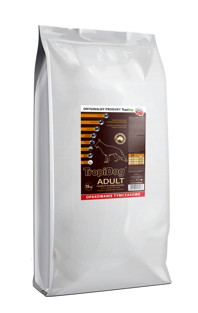 Tropidog Super Premium Adult M&L Lamb&Rice - 15 Kg