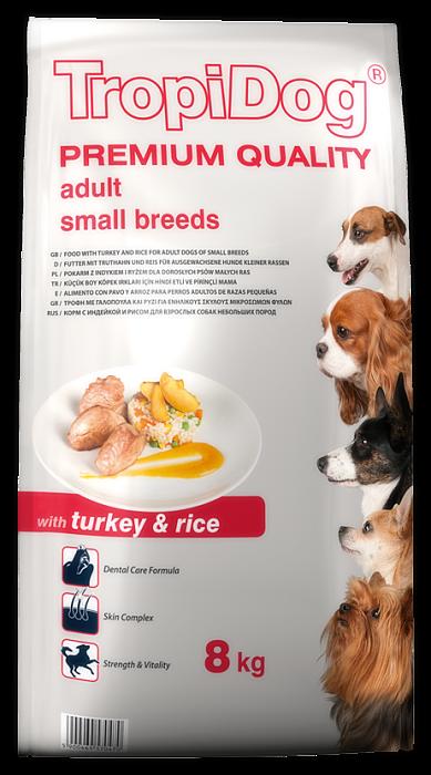 Tropidog Premium Adult S Turkey&Rice - 500g