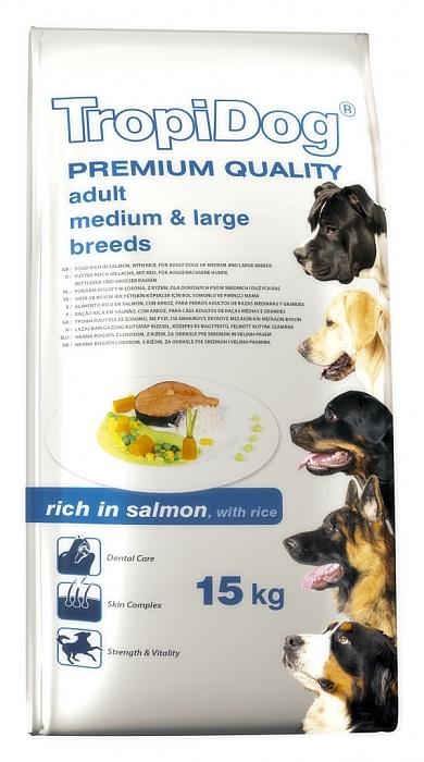 Tropidog Premium Aduls M&L Rich in Salmon - 2,5 Kg