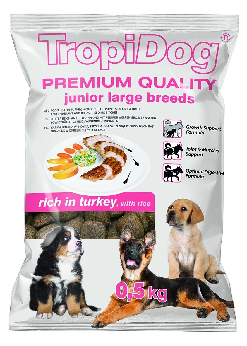 Tropidog Premium Junior L Turkey&Rice - 500g