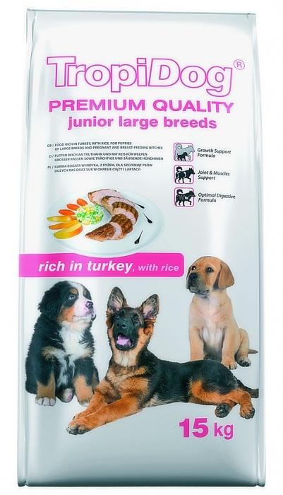 Tropidog Premium Junior L Turkey&Rice - 15 Kg