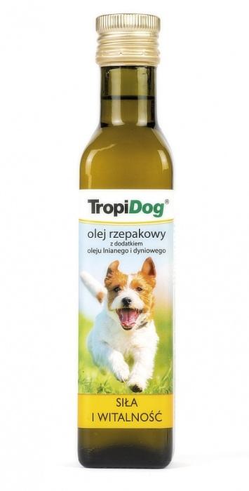 TROPIDOG Řepkový olej s lněným a dýňovým olejem - 250 ml