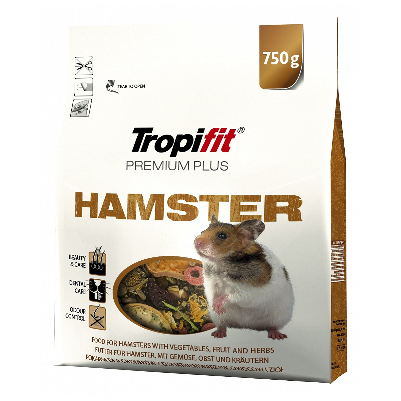 Tropifit Premium Plus Hamster - 750g