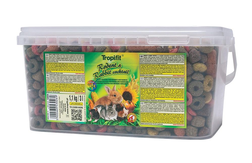 Tropifit Rodents & Rabbit Cocktail - 3 L/1100 g