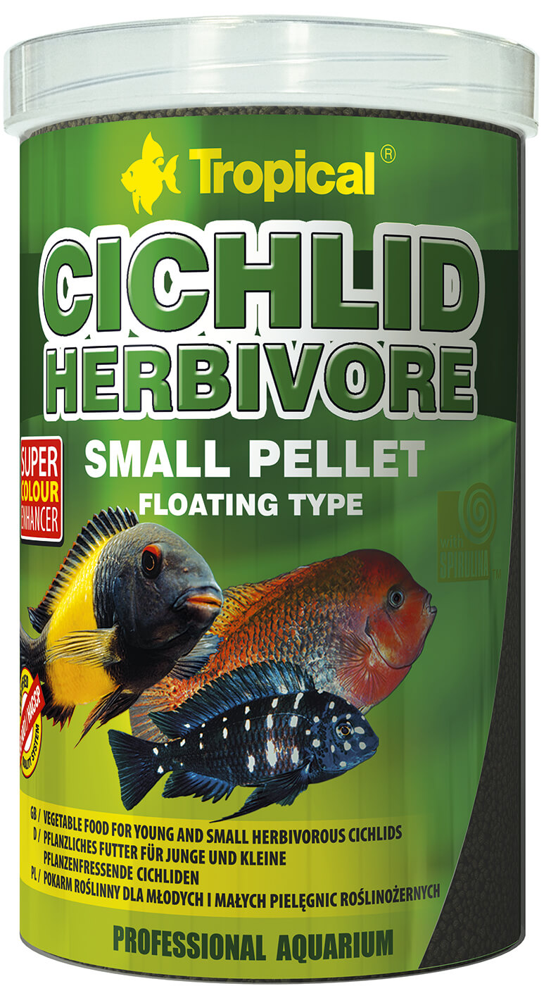 Tropical Cichlid Herbivore Small Pellet - 250ml/90g