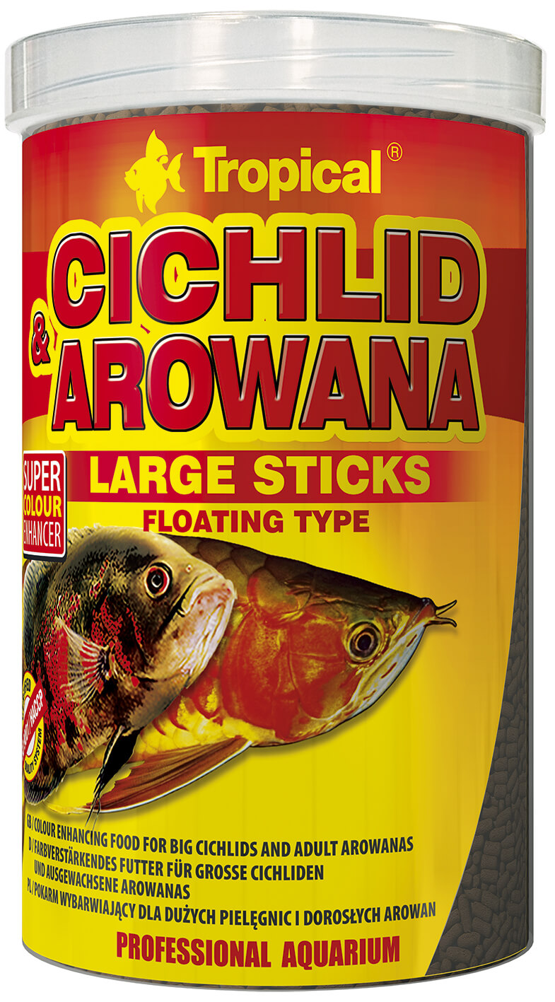 Tropical Cichlid&Arowana Large Sticks - 250ml/75g