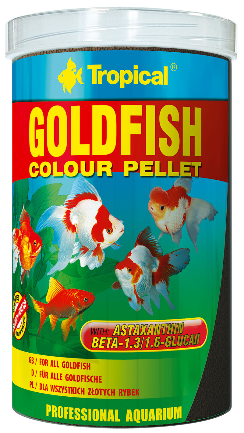 Tropical Goldfish Colour Pellet - 1000ml/360g